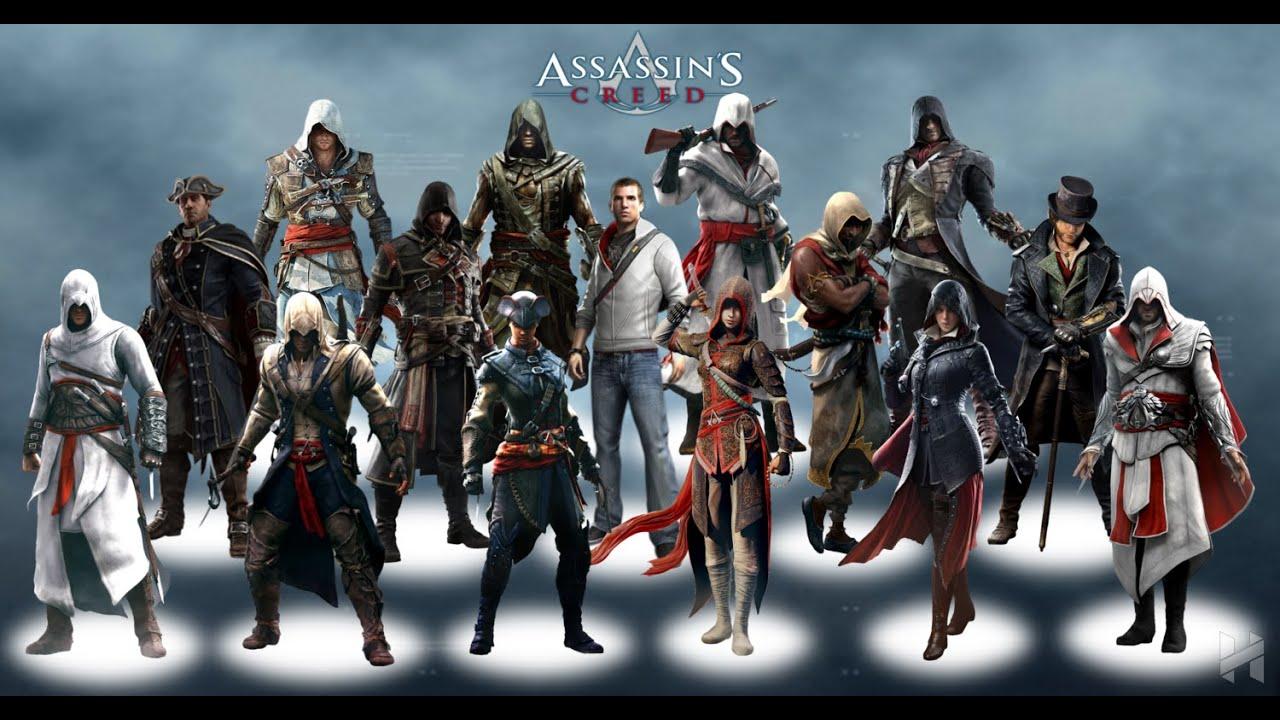 фото всех персонажей из игры ассасин занимались, основном