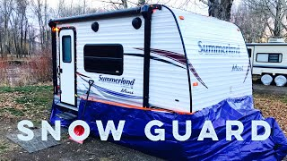 RV Winter Camping Preparation ❄️ Trailer Snow Guard ❄️