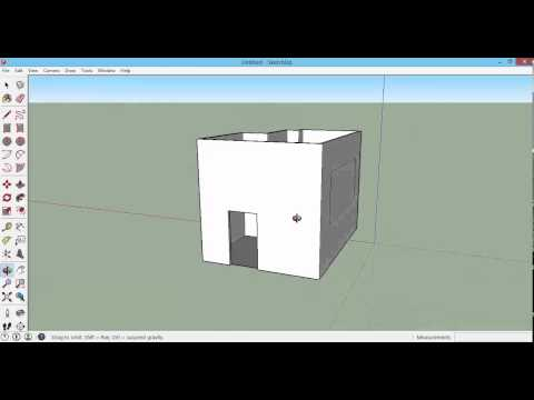 Sketchup 2015 - How to Draw Doors and Windows