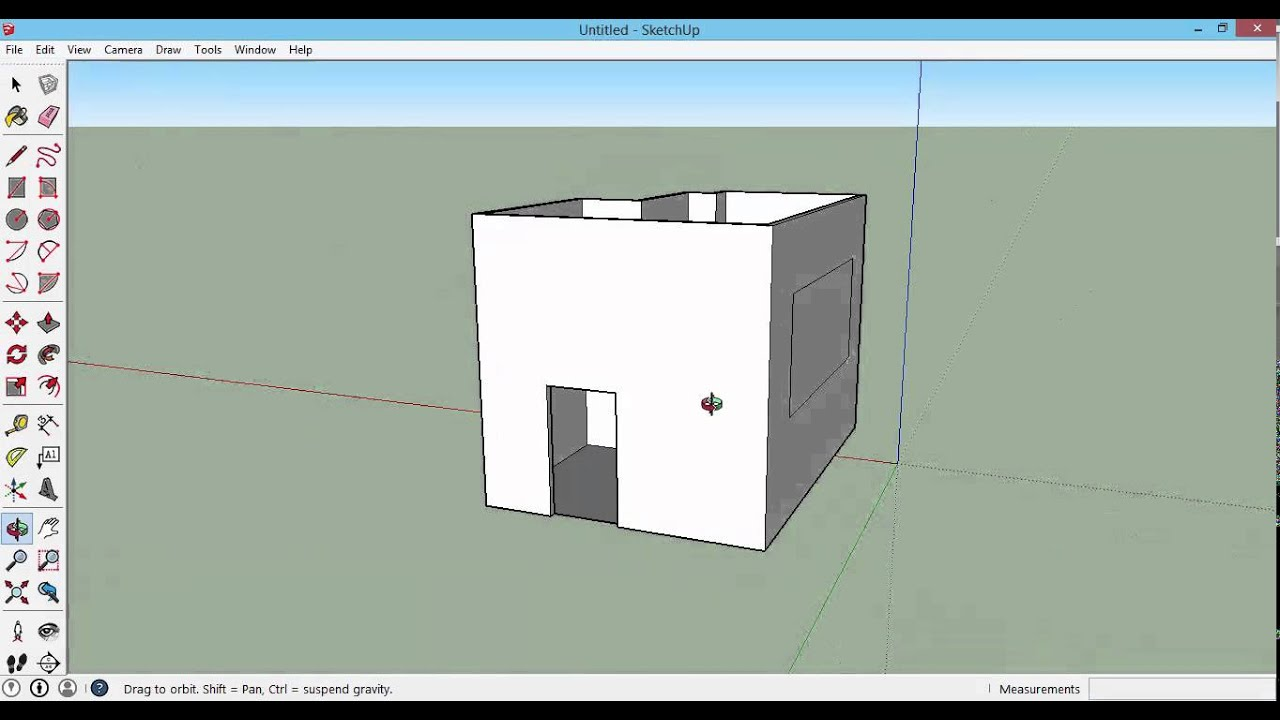 Sketchup 2015 How To Draw Doors And Windows Youtube