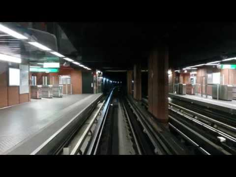Métro de Lyon - Cab ride - Ligne D avec éclairage / with tunnel lights on [HD] - Vénissieux-Vaise