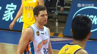 Jimmer Fredette goes for 42 points 4 reb 7 assists & 4 steals as the sharks defeats Beijing Dragons