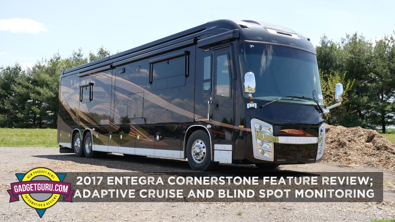 2017 Entegra Cornerstone Review - Driving With Adaptive Cruise & Blind Spot  Monitoring