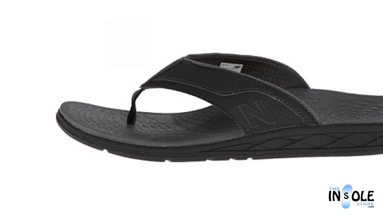 c36ffc08f689 New Balance RevitalignRX Black Conquest Thong Sandals for Men - YouTube