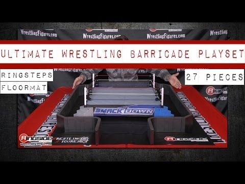 Ultimate Wrestling Ring Barricade Playset for WWE Wrestling Action Figures