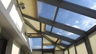 Плиссе в зимнем саду - шторы с электроприводами SOMFY 24V