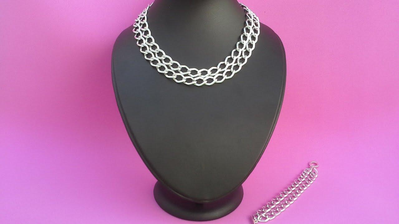 7a9bfd28082a Collar y pulsera con cadena
