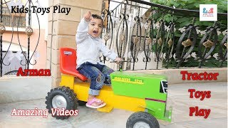 BRUDER RC tractor TROUBLE! Toys action | Video for kids | Kids Toys Paly