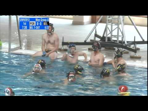 Underwater Hockey Worlds Eger 2013 men elite: Belgium - Portugal