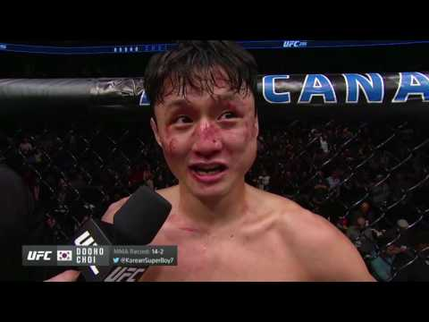 UFC 206: Cub Swanson and Dooho Choi Octagon Interview