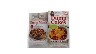 """Dump Meals"" and ""Dump Cakes"" Quick   Easy Cookbook Duo"