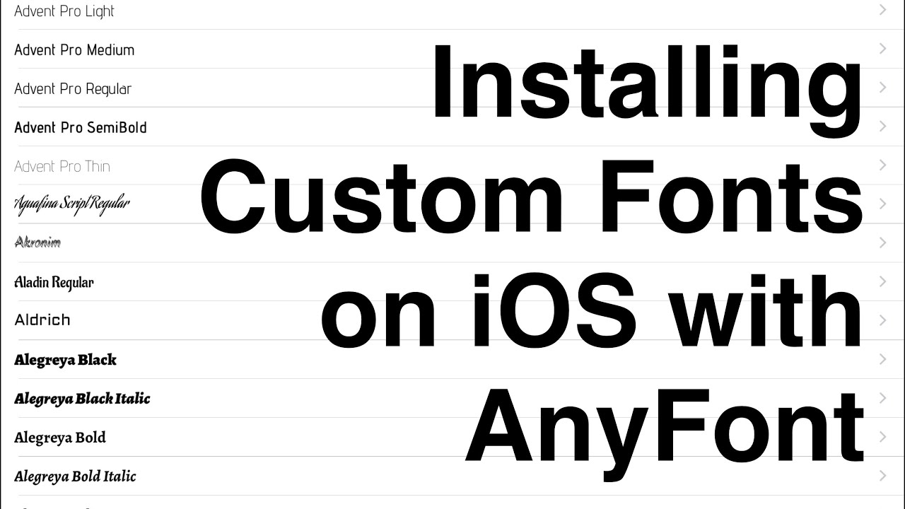 Installing Custom Fonts on iOS with AnyFont