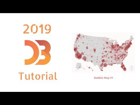 D3.js tutorial Part 8: Explaining D3.geo, Projections,  GeoJSON (2019) thumbnail