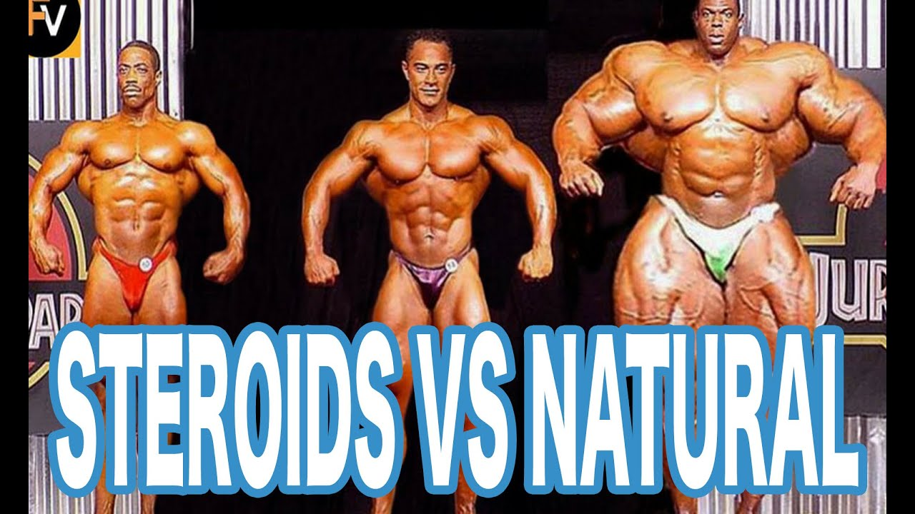 steroid muscle vs natural muscle pictures