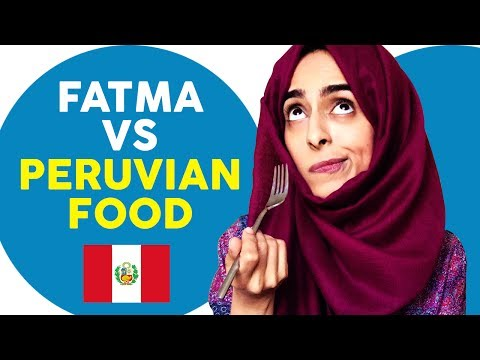 Fatma vs Peruvian Food | Trying Peruvian Food For The First Time (in London)