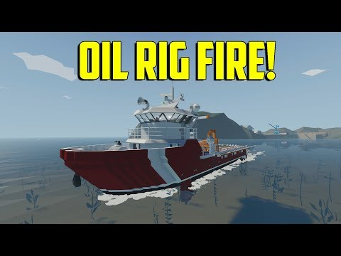 Stormworks Build and Rescue - Oil Rig Fire!