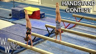Handstand Contest at the Gym | Whitney Bjerken Gymnastics