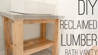 DIY Reclaimed Lumber Bath Vanity