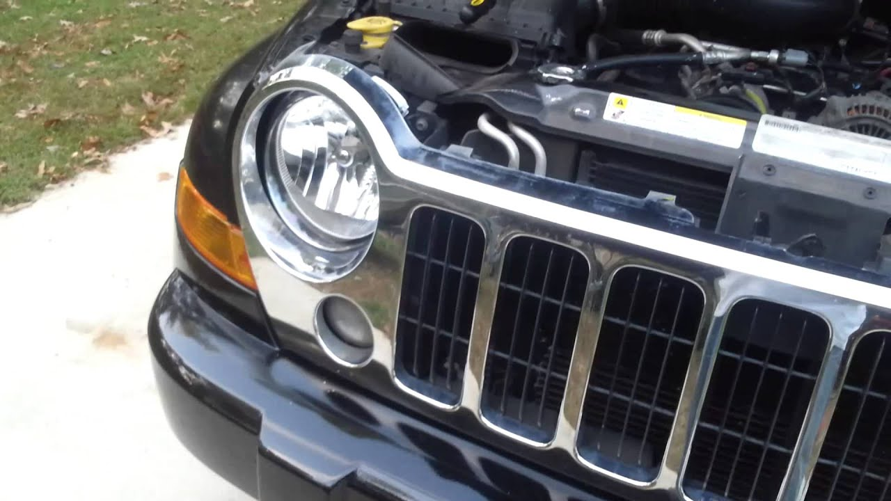 2005 2007 Jeep Liberty Headlight Change Rid Of The Old Fogged Up Lights You