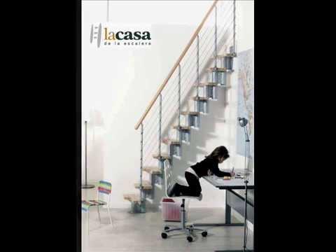 Escalera ahorra espacio modelo kya youtube for Espacio escalera