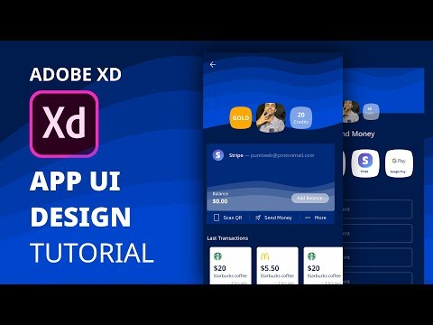 Payment UI Design in Adobe Xd | Mobile App Design Tutorial