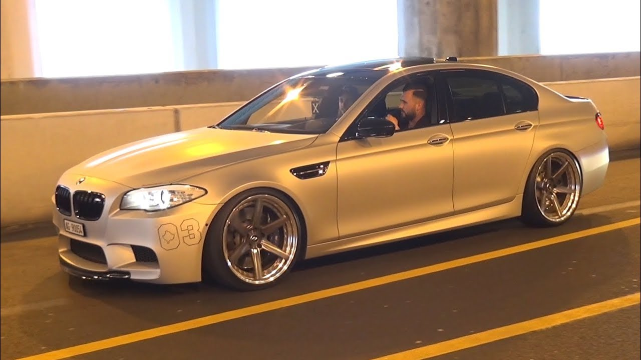 Tuned BMW M5 F10 with Straight Pipes Exhaust! - Burnouts, Accelerations &  Loud Sounds!