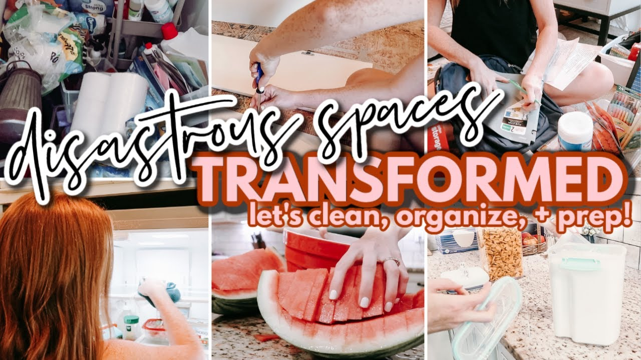 DISASTROUS SPACES TRANSFORMED!   ORGANIZING MY LIFE ROOM BY ROOM   THRIFT WITH ME + FOOD PREP