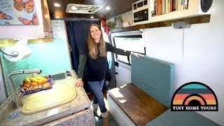 She Built A DIY 2003 Sprinter & Converted It On A Budget - Full Tour Of Her Beautiful Tiny Home
