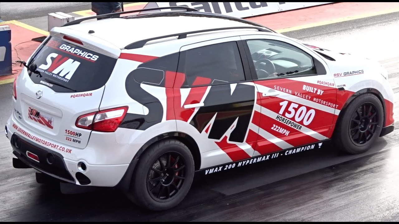 fastest suv in the world 1500hp nissan qashqai r35 9 6 153mph youtube. Black Bedroom Furniture Sets. Home Design Ideas