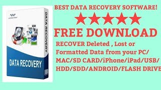 Best Data recovery software Free! Recover Deleted, Formatted Data from PC/Mac/USB/Hard Drive/SD Card