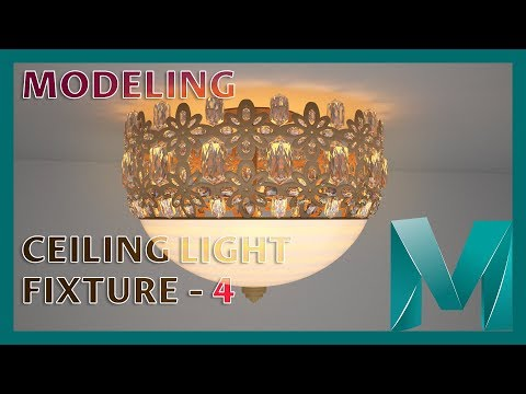 Modeling a Ceiling Light Fixture - 4 || Autodesk Maya 2018 Tutorials