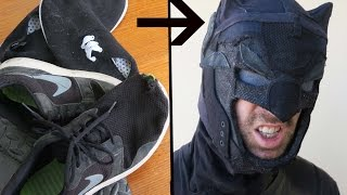 Homeless Batman Part 2: A Batman Cowl from Old Shoes