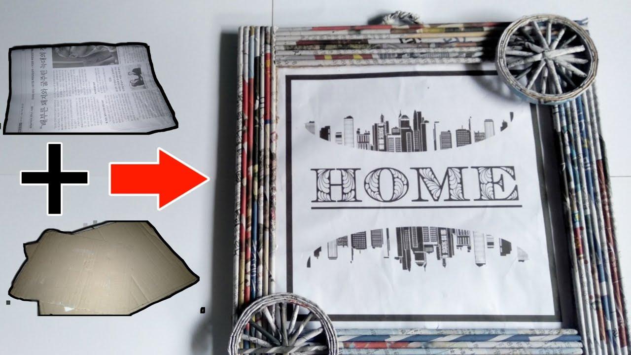 Cara buat bingkai foto dari koran dan kardus bekas paling ...