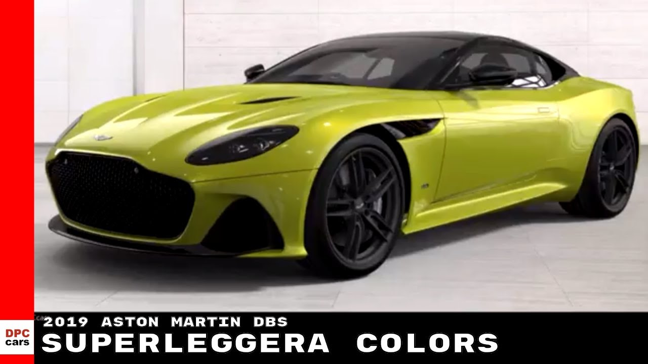 2019 Aston Martin Dbs Superleggera Colors Youtube