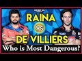 IPL Best- Suresh Raina VS AB De Villiers  | Who is The Best? | Suresh raina | Ab De Villiers