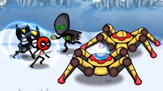 Стикмены герои марвел! HERO WARS Super Stickman Defenseя! Игра про стикменов!