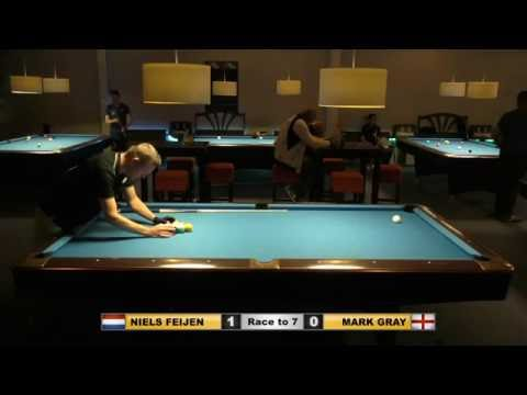 Niels FEIJEN vs Mark GRAY ᴴᴰ Deurne City Classic 2016 9-ball