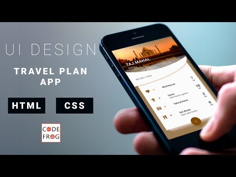 UI Design Tutorial - Travel Plan Card | HTML CSS Speed Coding