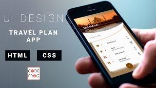 UI Design Tutorial - Travel Plan Card   HTML CSS Speed Coding