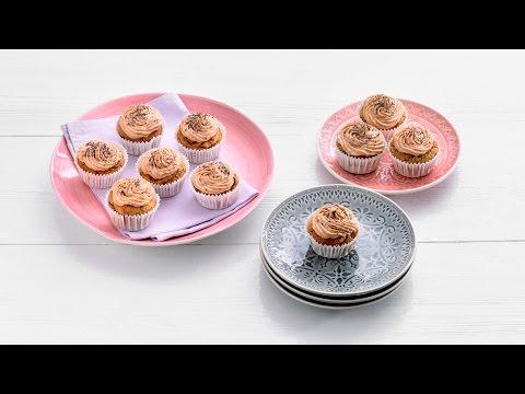 Pompoenmuffins met chiazaad en ahornsiroop – Allerhande