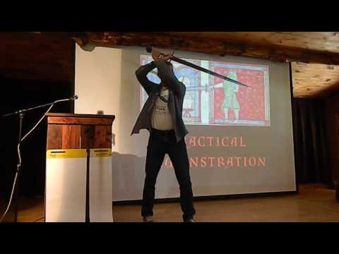 Peter Johnsson's practical demonstration of sword dynamics at Ashokan Sword year 2016