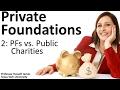 Private Foundations 2: PFs vs. Public Charities