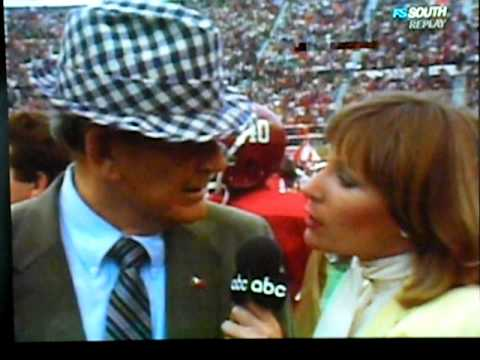 Bear Bryant Has No Time For Girl Sideline Reporter