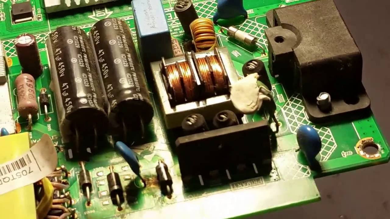 PHILIPS 32PFL3088H/12 LED TV repair no power led. Tiles
