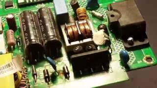 PHILIPS 32PFL3088H/12 LED TV  repair no power led. Tiles. power supply