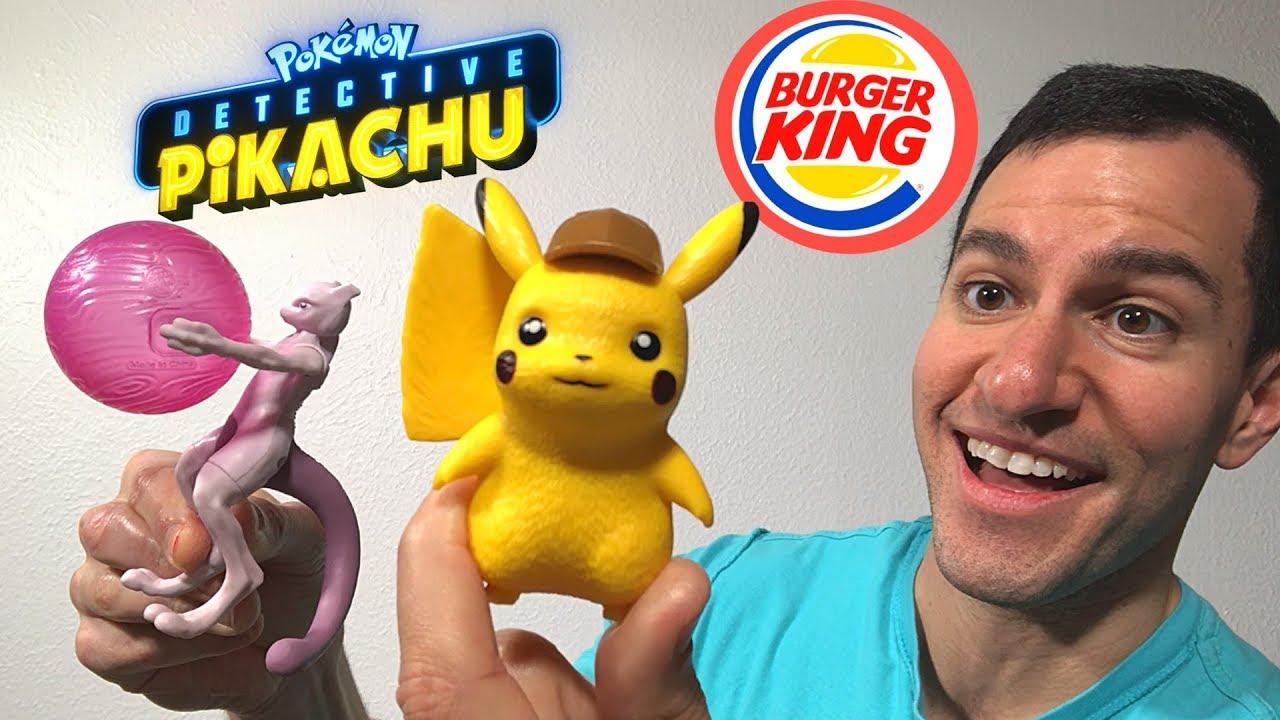 New Detective Pikachu Burger King Toys Surprise Pokemon