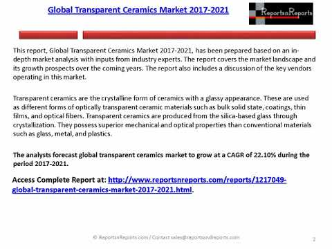 Transparent Ceramics Market: Global Forecasts to 2021