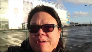 Fat Chinese visit Cardiff City Football Club on Christmas Eve