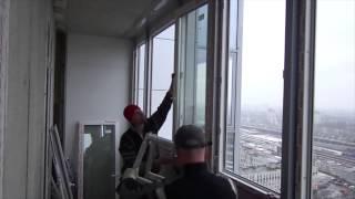 Процесс замены фасадного остекления(В данном видео компания