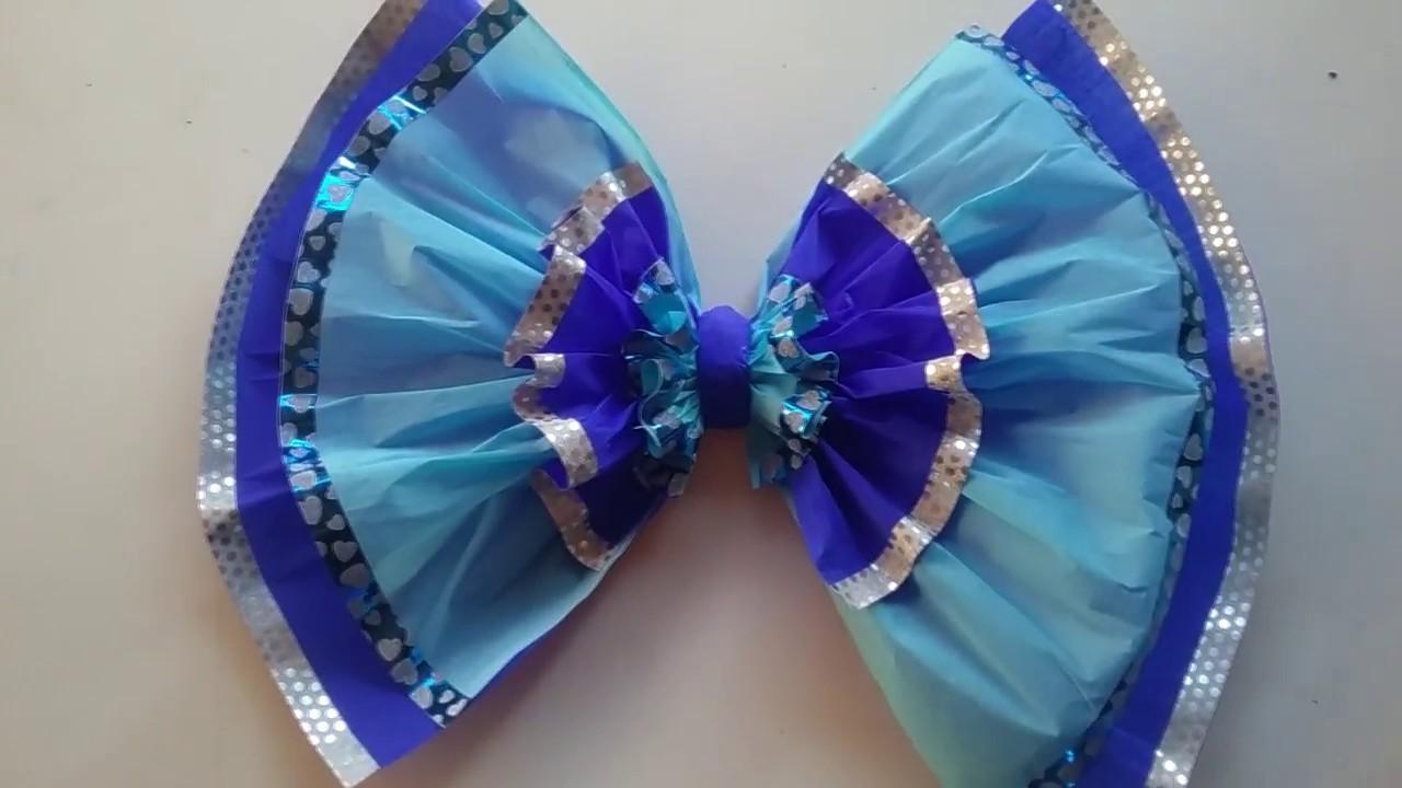 Moo decorativo de papel crepe Crepe paper decorative bow